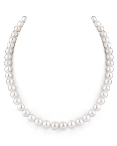 1. 14K Gold White Freshwater Cultured Pearl Necklace, 18