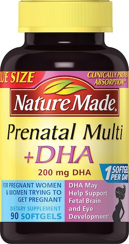 2. Nature Made PrenatalMulti + DHA 200 Mg Softgels, Value Size, 60 + 30 Liquid softgels