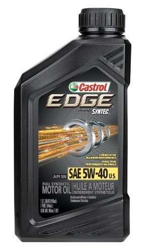 8. Castrol 06249 EDGE 5W-40 Full Synthetic Motor Oil, 1 Quart, 6 Pack