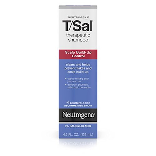 Best Anti-Dandruff Shampoos: 6. Neutrogena T/Sal Shampoo Scalp Build-Up Control 4.5 Fl Oz (pack of 6)