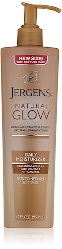 5. Jergens Natural Glow Daily Moisturizer, Fair to Medium Skin Tones, 10 Ounce Pump