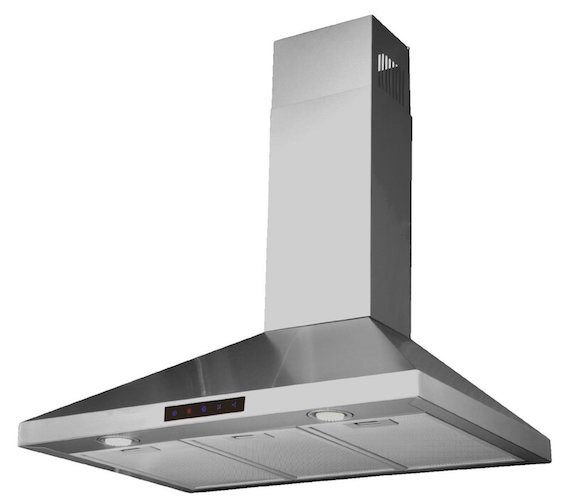 10. Kitchen Bath Collection 30-inch Wall-mounted Stainless Steel Range Hood with Touch Screen Control Panel, Capable of Vent-less Operation. High-end LED Lights Over 3x Brighter Than Competing Models