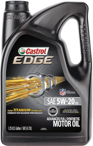 5. Castrol 03083 EDGE 5W-20 Full Synthetic Motor Oil, 5 Quart