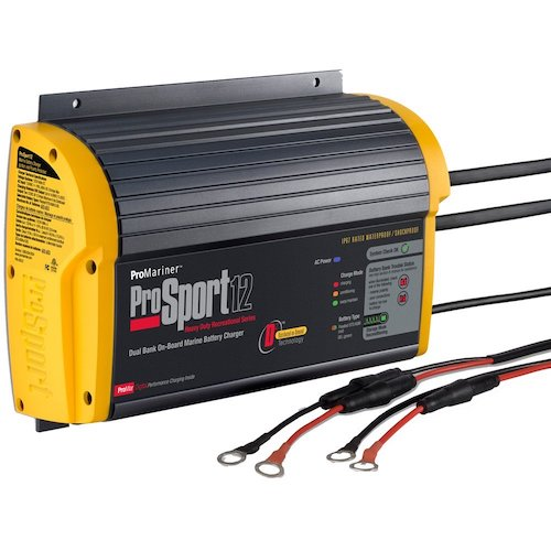 5. ProMariner ProSport 12 Gen 3 Heavy Duty Recreational Series On-Board Marine Battery Charger -12 Amp -2 Bank