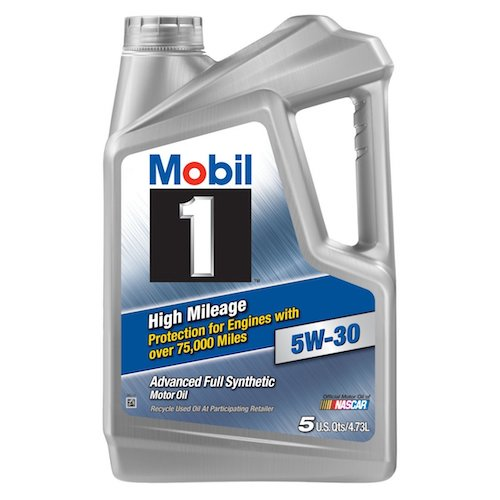 3. Mobil 1 (120769) High Mileage 5W-30 Motor Oil - 5 Quart