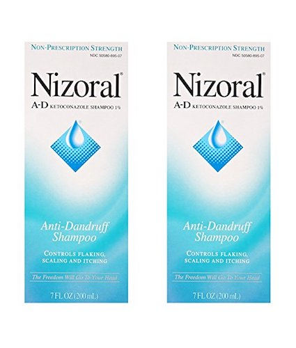 Best Anti-Dandruff Shampoos: 7. Nizoral Anti-Dandruff Shampoo (Pack of 2) - 7 Ounce Bottles