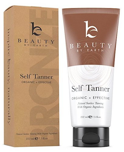 2. Self Tanner - Organic and Natural Ingredients Sunless Tanning Lotion and Best Bronzer Golden Buildable Light, Medium or Dark Gradual Tan for Body and Face 7.5 oz