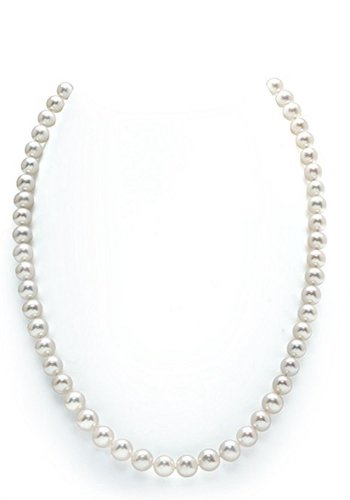 6. 14 Carat White Gold Single Strand Necklace