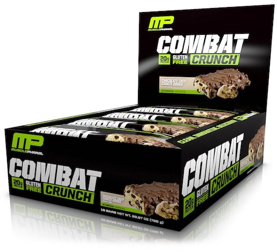 9. MusclePharm Combat Crunch Protein Bar, Chocolate Chip Cookie Dough, 12 Bars