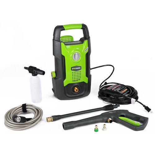 3. GreenWorks GPW1501 13 amp 1500 PSI 1.2 GPM Electric Pressure Washer