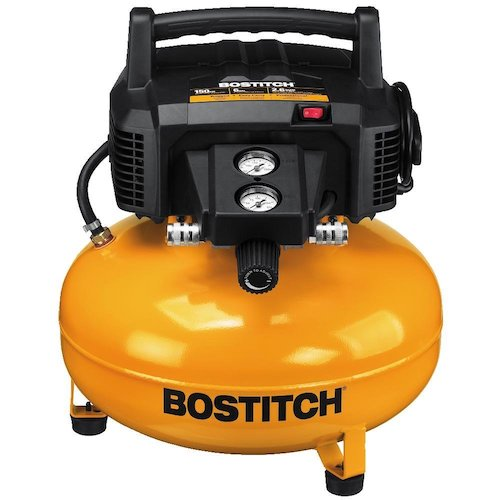 2. Bostitch BTFP02012 6 Gallon 150 PSI Oil-Free Compressor