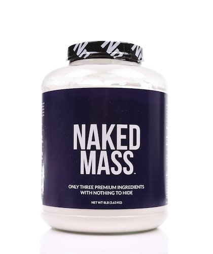 7. NAKED MASS- All natural weight Gainer Protein Powder -8lb Bulk, GMO Free, Gluten Free & Soy Free. No Artificial Ingredients -1,250 Calories -11 servings