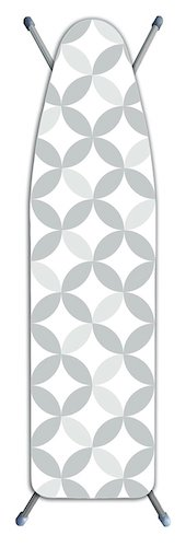 9. Laundry Solutions by Westex Deluxe Extra Thick Geo Tonal Circles Ironing Board Cover, Gray