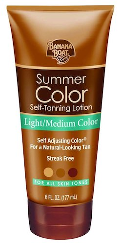 6. Banana Boat Self-Tanning Lotion, Light/Medium Summer Color for All Skin Tones - 6 Ounce