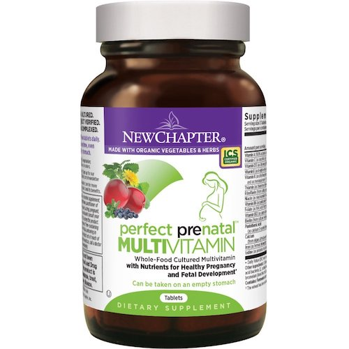 7. New Chapter Perfect Prenatal Vitamins Fermented with Probiotics + Folate + Iron + Vitamin D3 + B Vitamins + Organic Non-GMO Ingredients – 192 ct