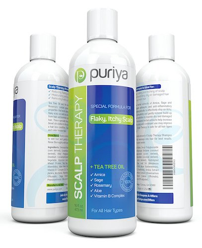 Best Anti-Dandruff Shampoos: 2. Puriya Natural Anti-Dandruff Shampoo