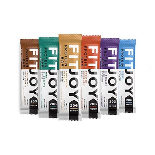 10. FitJoy Nutrition Protein Bar, Frosted Cinnamon Roll, 12 Count