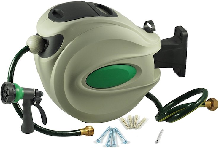 9. ikris Retractable Garden Water Hose Reel