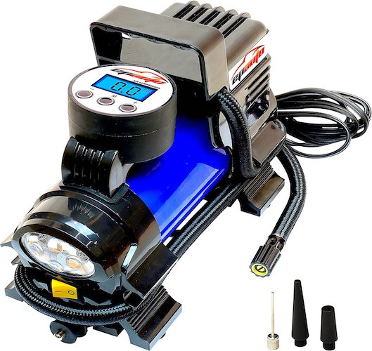 Best portable air compressors: 1. EPAuto 12V DC Portable Air Compressor Pump, Digital Tire Inflator by 100 PSI