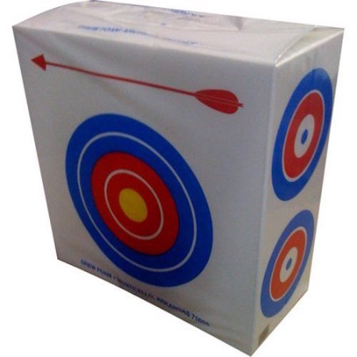 8. Drew Polystyrene Foam Archery Target 2' Square With a Large Bull's Eyes on One Side for Beginners and Four Smaller Bull's Eyes on The Other Side for Experienced Archers Great for Light Weight Bows