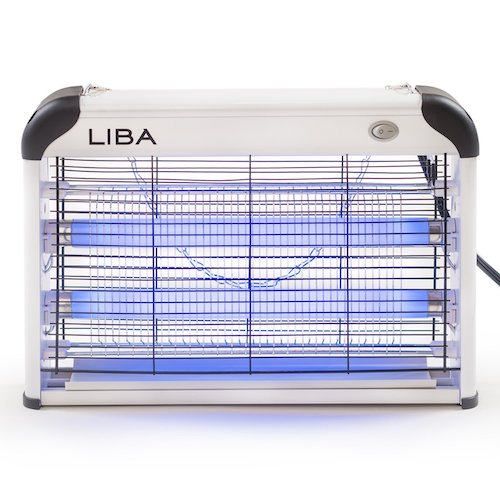 Best Fly Killers For Indoors And Outdoors: 7. Bug Zapper & Electric Indoor Insect Killer by LiBa – Mosquito, Bug, Fly & Other Pests Killer – Powerful 2800V 20W Bulbs – Free 2-Pack Replacement Bulbs Included
