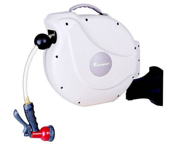 5. GartenKraft Retractable Garden Hose Reel