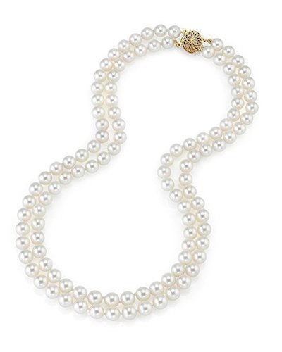 10. 14 Carat Gold Double Strand Necklace