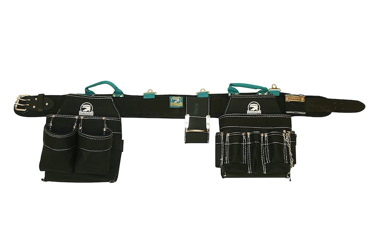 Most Comfortable Tool Belts: 3. Gatorback Professional Electrician's Tool Belt Combo w/ Padded Comfort Belt Small 26-30 Inch Waist). Ventilated Comfort Belt with Heavy Duty Pouches for Electricians, Carpenters, Framer