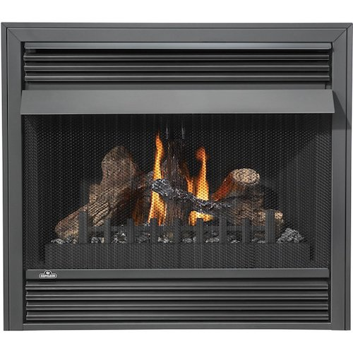 9. Napoleon GVF36-2N 30 000 BTU Vent Free Natural Gas Fireplace With Safety Pull Screen Realistic PHAZER Logs Oxygen Depletion Sensor & 99.9% Steady State High