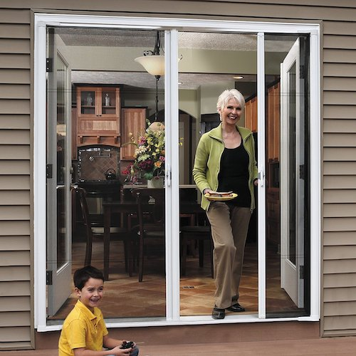 4. Brisa Double Screen Door (Set of 2) Finish: White