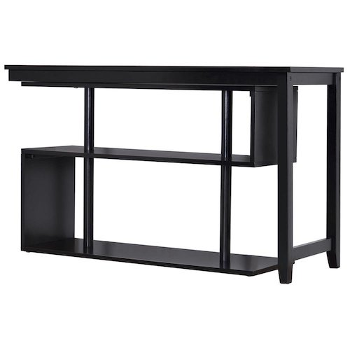 7. Virginia Wood Desk/Display shelf-Pivot Top Black