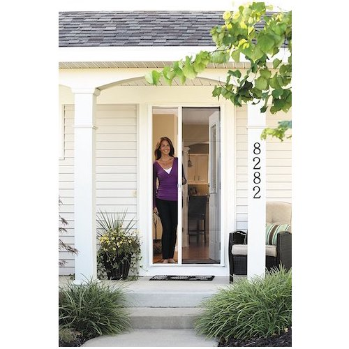 brisa retractable screen door easy screen brisa retractable screen door finish sandstone top 10 best doors in 2018 reviews topbestspec