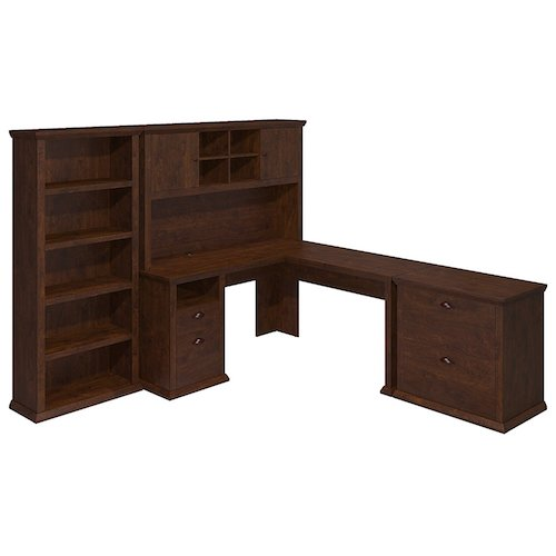 3. Yorktown L-Shaped Desk With Hutch