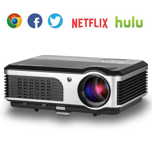 4. EUG Wireless Home Theater LED LCD Video Projector