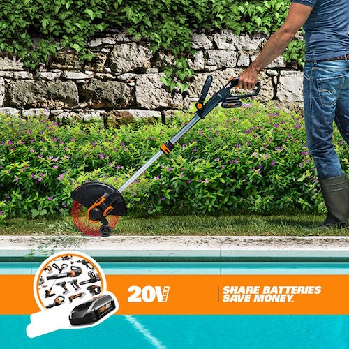6. WORX WG163 GT 3.0 20V Cordless Grass Trimmer