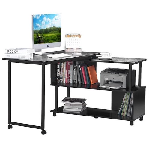 Top 10 Best L-Shaped Desks With Bookshelf in 2018 Reviews