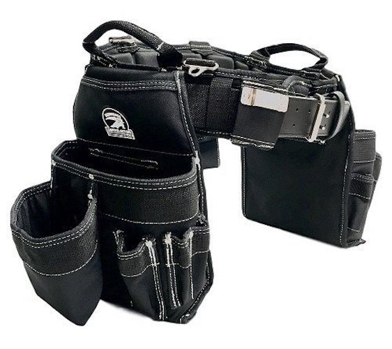 6. TradeGear Small Carpenter's Combo Belt & Bags, Maximum Comfort, Durable & Heavy-Duty (26-30