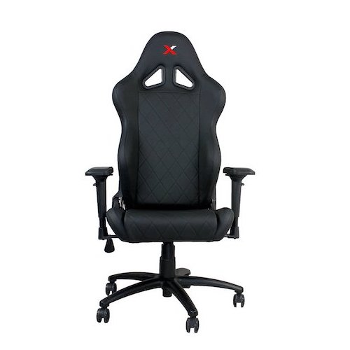 5. Ferrino Line Black on Black Diamond Patterned Gaming and Lifestyle Chair by RapidX