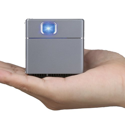 8. Sugoiti Mini WiFi Projector 2 Inch Mobile Portable Outdoor Home Theater Cinema Cube DLP Pico Projector