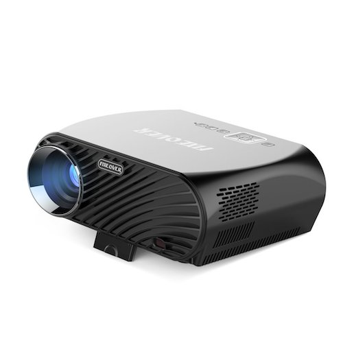 3.  Fixeover GP100 Projector HD Ready 1280 x 800 Pixels for your Digital Home Theater, LED Light and 30000 hours of Video Entertainment, Office File Read by HDMI, 3500 lumen