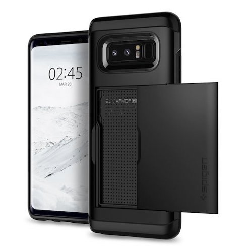 1. Spigen Slim Armor CS Galaxy Note 8 Case with Slim Dual Layer Wallet Design and Card Slot Holder for Galaxy Note 8 (2017) - Black