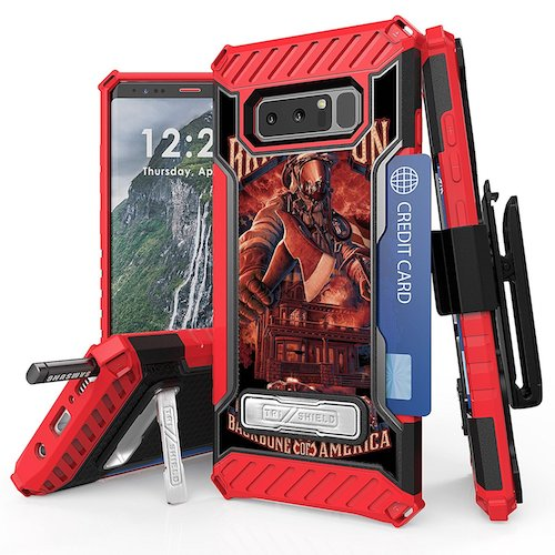 8. Galaxy Note 8 Case, Trishield Durable Rugged Heavy Duty Phone Cover With Detachable Lanyard Loop Belt Clip Holster And Built in kickstand Card Slot For Note 8 - Fire Fighter Bring It On