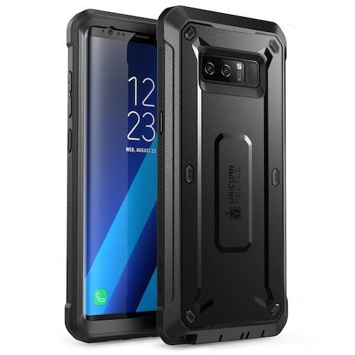 3. Samsung Galaxy Note 8 Case, SUPCASE Full-body Rugged Holster Case with Built-in Screen Protector for Galaxy Note 8 (2017 Release) (Black/Black)