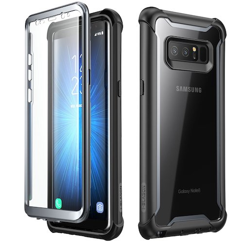 4. Samsung Galaxy Note 8 case, i-Blason Full-body Rugged Clear Bumper Case with Built-in Screen Protector for Samsung Galaxy Note 8 2017 Release (Black)