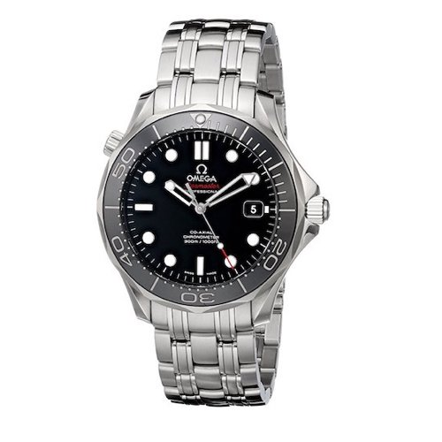2. Omega Men's 212.30.41.20.01.003 Seamaster Black Dial Watch