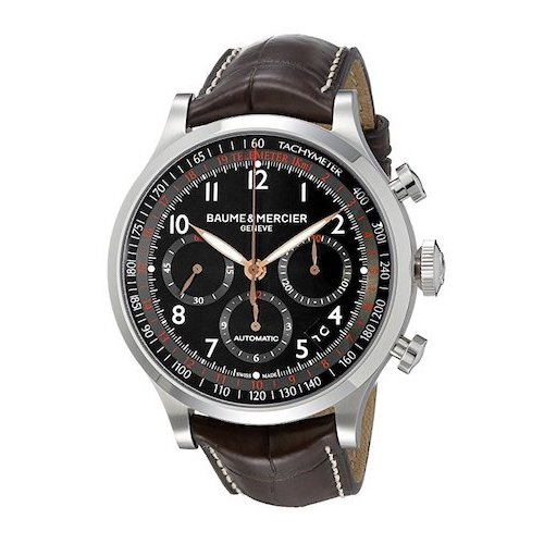 7. Baume & Mercier Men's BMMOA10067 Capeland Analog Display Swiss Automatic Brown Watch