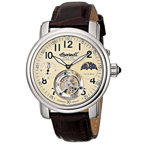 7. Ingersoll Men's IN5306CR Lahota Tourbillon Analog Display Mechanical Hand Wind Brown Watch