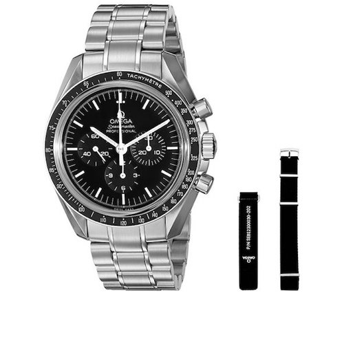 1. Omega Men's 31130423001006 Speedmaster Analog Display Mechanical Hand Wind Silver Watch