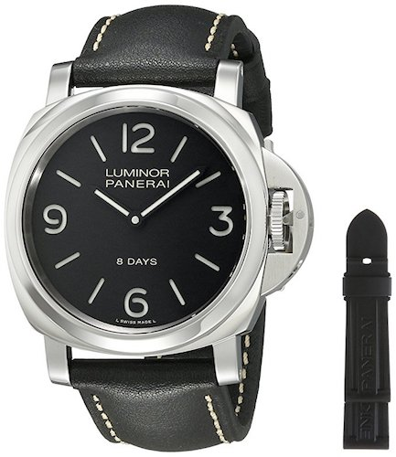 3. Penerai Men's PAM00560 Luminor Stainless Steel Mechanical Hand-Wind Watch