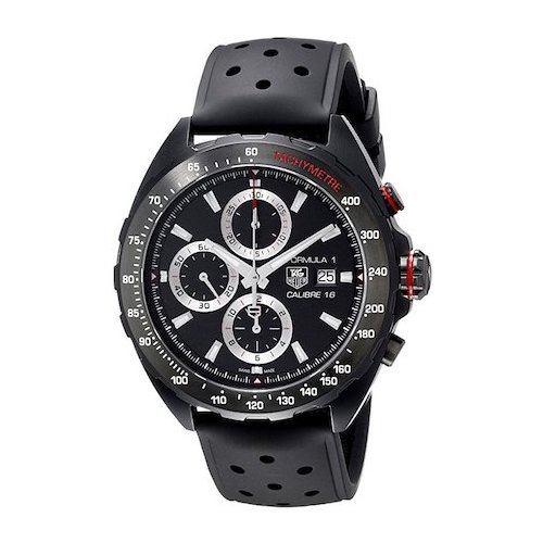 3. TAG Heuer Men's CAZ2011.FT8024 Stainless Steel Watch with Black Rubber Band